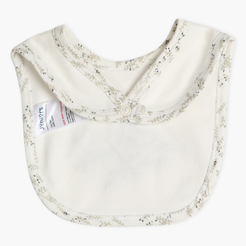 Juniors Embroidered Bib with Press Button Closure
