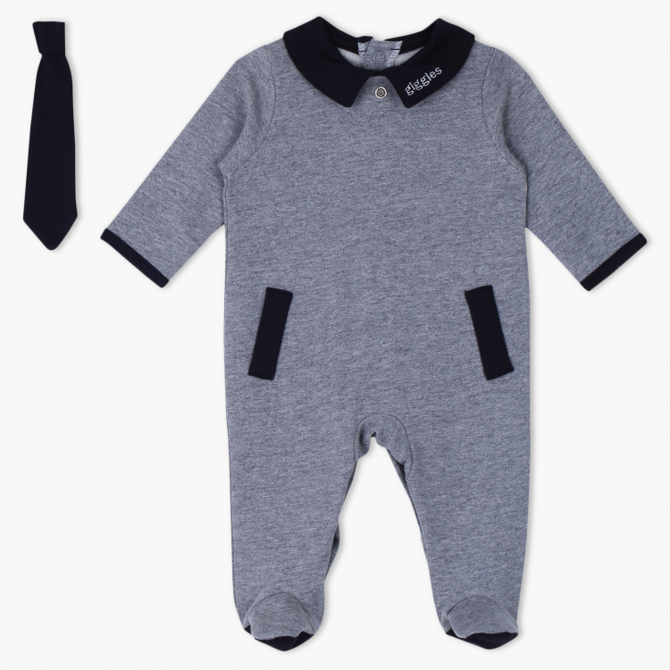 Giggles Long Sleeves Sleepsuit with Tie