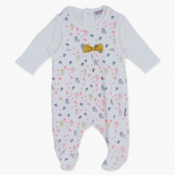 Juniors Printed T-Shirt and Sleepsuit Set