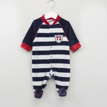 Juniors Striped Long Sleeves Sleepsuit
