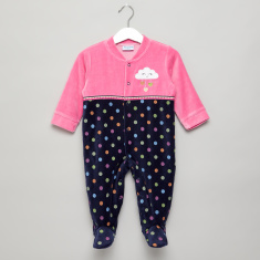 Juniors Applique Detailed Sleepsuit with 3/4 Sleeves