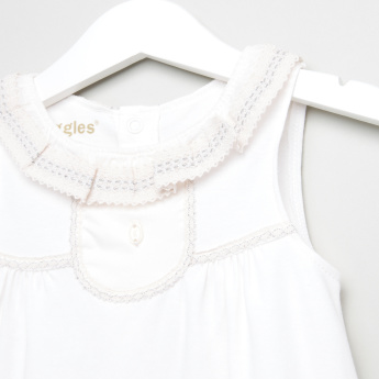 Giggles Lace Detail Sleeveless Dress
