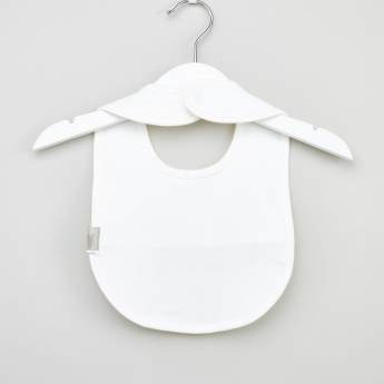 Giggles Floral Applique Detail Bib