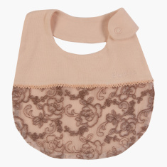 Giggles Embroidered Bib