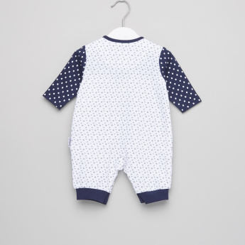 Juniors Dot Printed Open Feet Sleepsuit