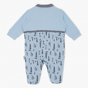 Juniors Boat Print Sleepsuit with Long Sleeves