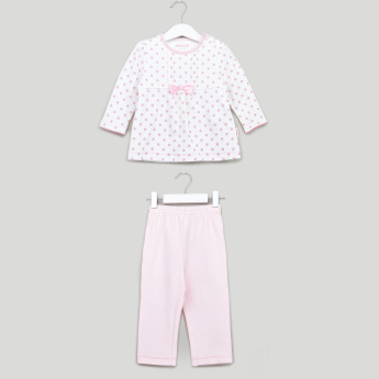 Juniors Printed Top with Elasticated Pyjamas