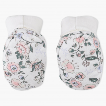 Juniors Floral Print Booties