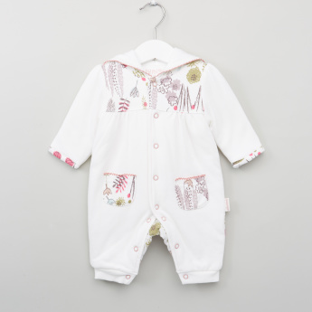Juniors Printed Long Sleeves Open Feet Sleepsuit