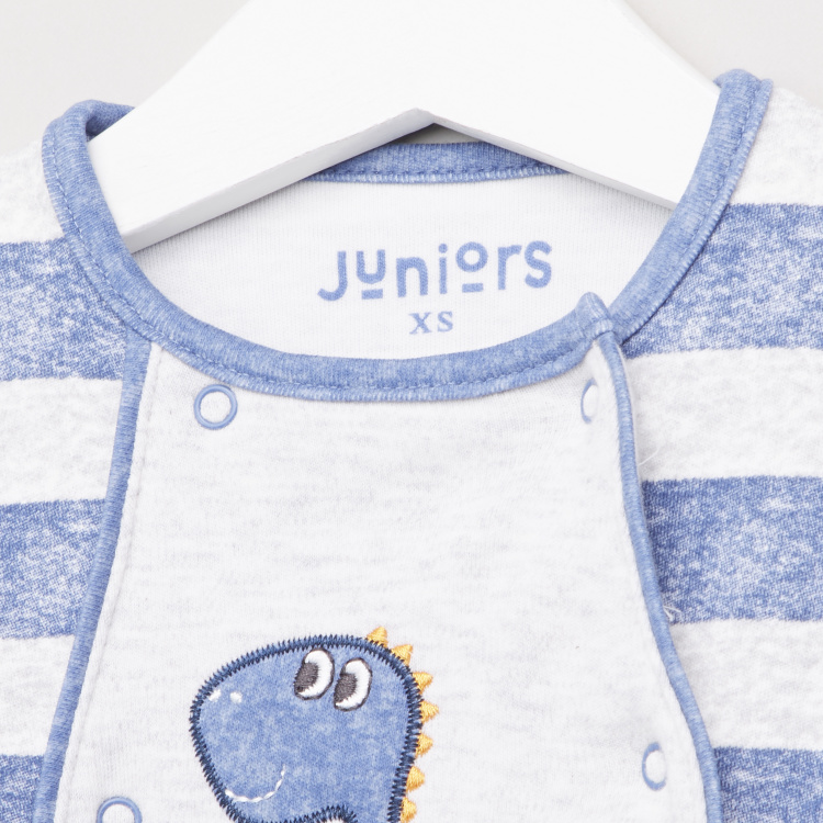 Juniors Striped Sleepsuit with Long Sleeves