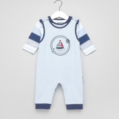 Juniors Striped T-Shirt with Sleeveless Sleepsuit