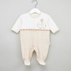 Juniors Striped Long Sleeves Closed Feet Sleepsuit