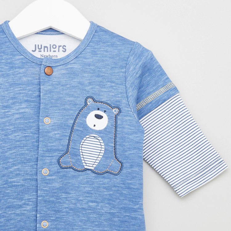 Juniors Closed Feet Printed Sleepsuit