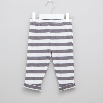 Juniors Printed T-shirt and Striped Pyjama Set