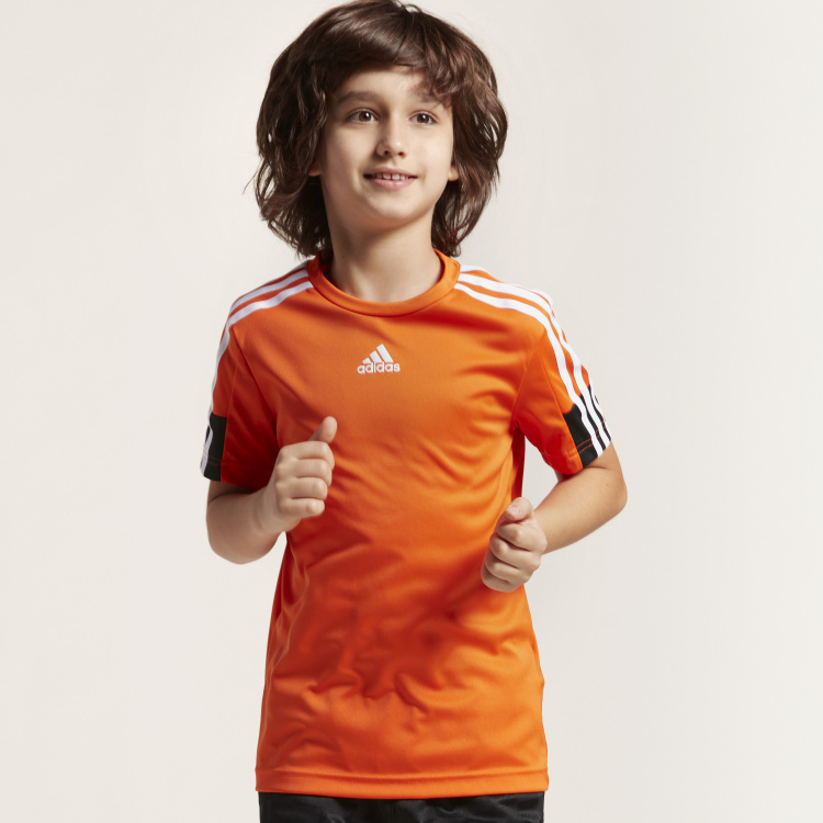 Adidas Round Neck T-shirt with Short Sleeves