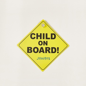 Juniors Baby on Board Car Sign