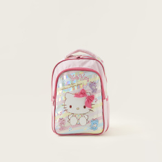 Hello Kitty Print Backpack with Adjustable Straps - 14 inches