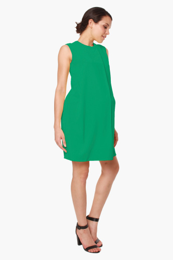 Spring Claude High Neck Sleeveless Maternity Dress
