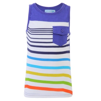 Juniors Striped Front Sleeveless T-shirt