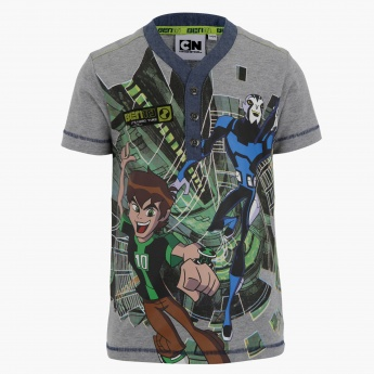 Ben 10 Henley Neck T-shirt