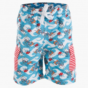 Smurfs Printed Swim Shorts