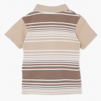 Giggles Striped Polo Neck T-shirt