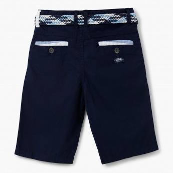 Juniors Shorts with Contrast Belt