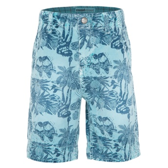 Moodstreet Printed Denim Shorts