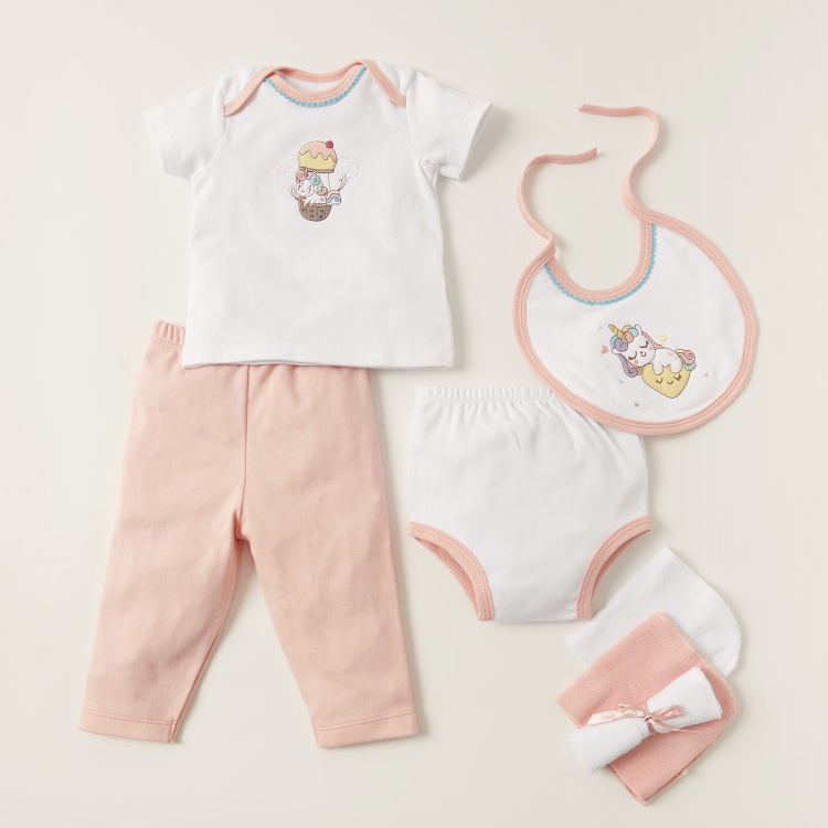 Juniors Polka Dots Print 14-Piece Apparel Gift Set