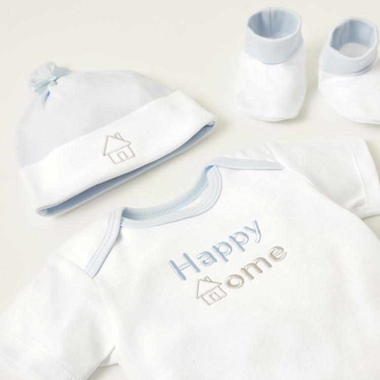 Juniors Text Embroidered Detail 6-Piece Clothing Gift Set