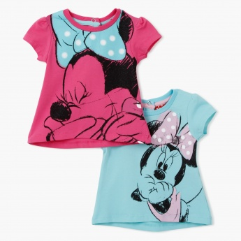 Minnie Mouse Printed T-Shirt - Set of 2