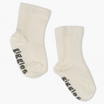 Giggles Embroidered Socks