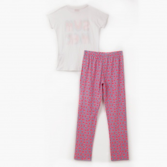 Juniors Printed T-shirt and Pyjama Set - Pack of 2