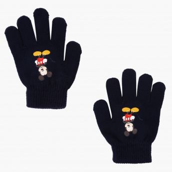 Mickey Mouse Woven Hand Gloves