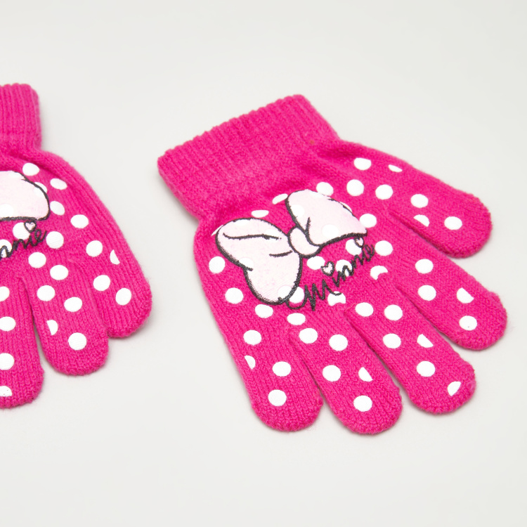 Minnie Mouse Printed Mittens