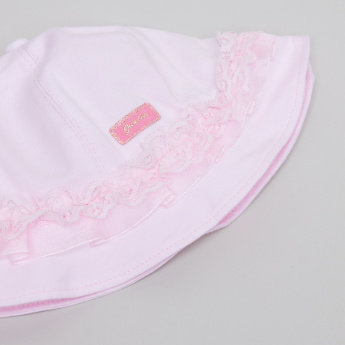 Juniors Lace Detail Bucket Hat
