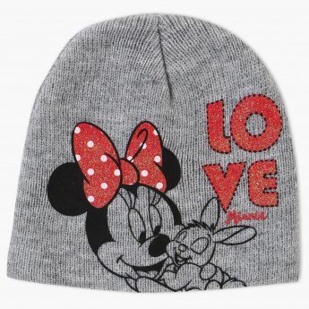 Minnie Mouse Printed Beanie Cap