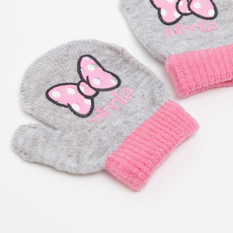 Minnie Mouse Embroidered Mittens
