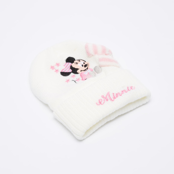 Minnie Mouse Embroidered Beanie Cap