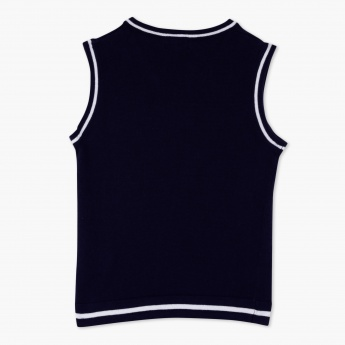 Juniors Sleeveless Knitted Sweater