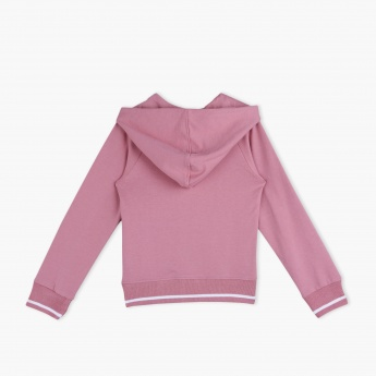 Juniors Sweat Top with Raglan Sleeves
