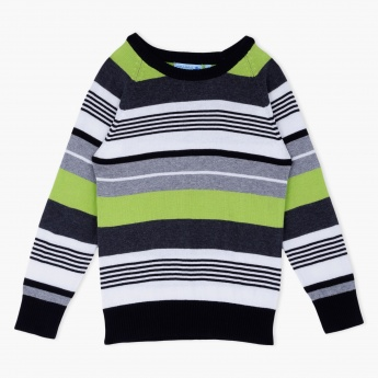 Juniors Striped Pullover
