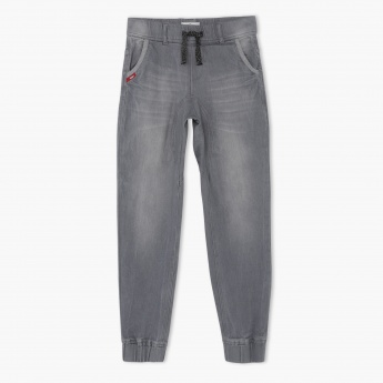 Lee Cooper Whiskered Denim Jog Pants
