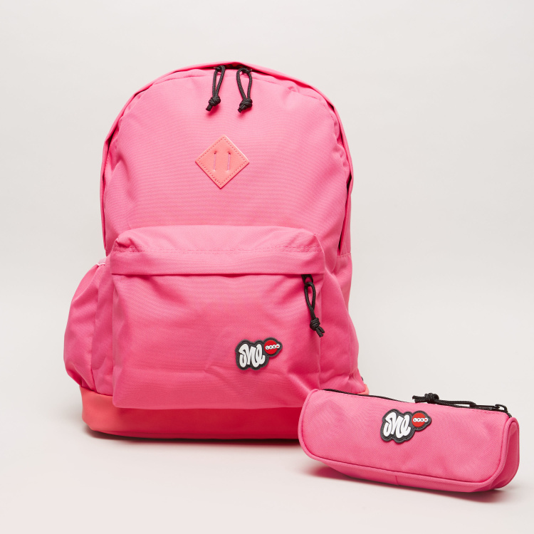 LYC SAC Solid Backpack with Pencil Case - 18 inches