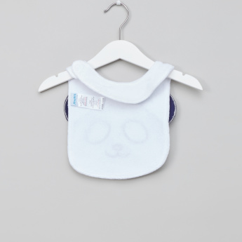 Juniors Embroidered Bib with Applique Detail and Hook and Loop Closure