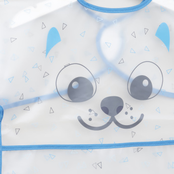 Juniors Dog Printed Bib with Hook and Loop Closure