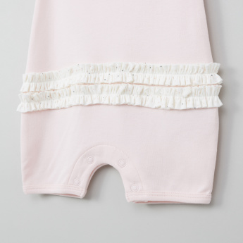 Juniors Ruffle Detail Romper