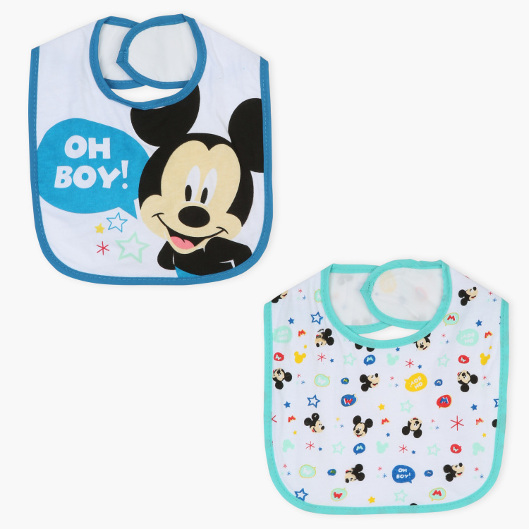 Mickey Mouse Printed Bib - Set of 2