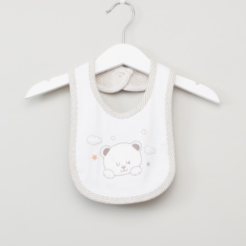 Juniors Printed Bib with Snap Button Closure