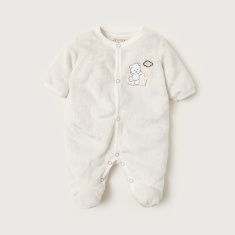 Juniors Textured Closed Feet Sleepsuit with Long Sleeves
